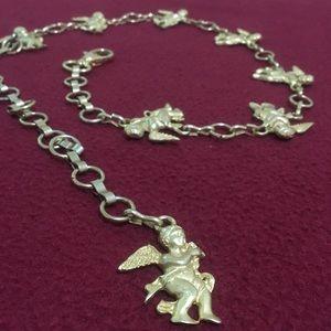 Golden angel waist chain belt fashion accessory